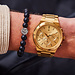 Sem Lewis Moorgate chronograph watch gold colored