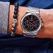 Sem Lewis Moorgate chronograaf horloge zilverkleurig en zwart