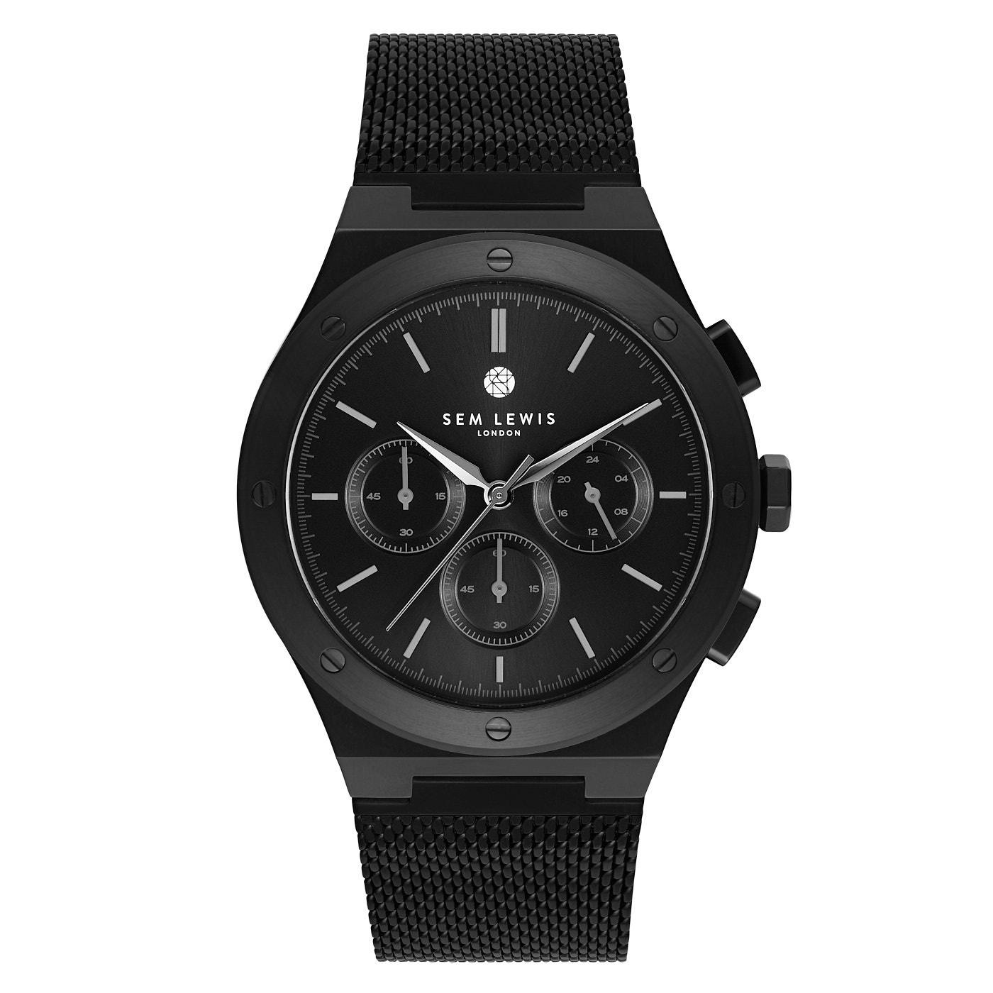 Sem Lewis Moorgate montre chronographe noir