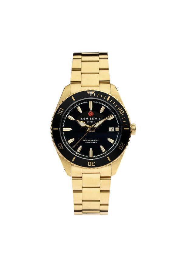 Sem Lewis Lundy Island Diver watch Black / Gold