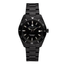 Sem Lewis Lundy Island Diver Uhr schwarz