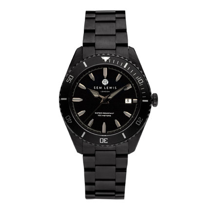 Sem Lewis Lundy Island Diver watch black