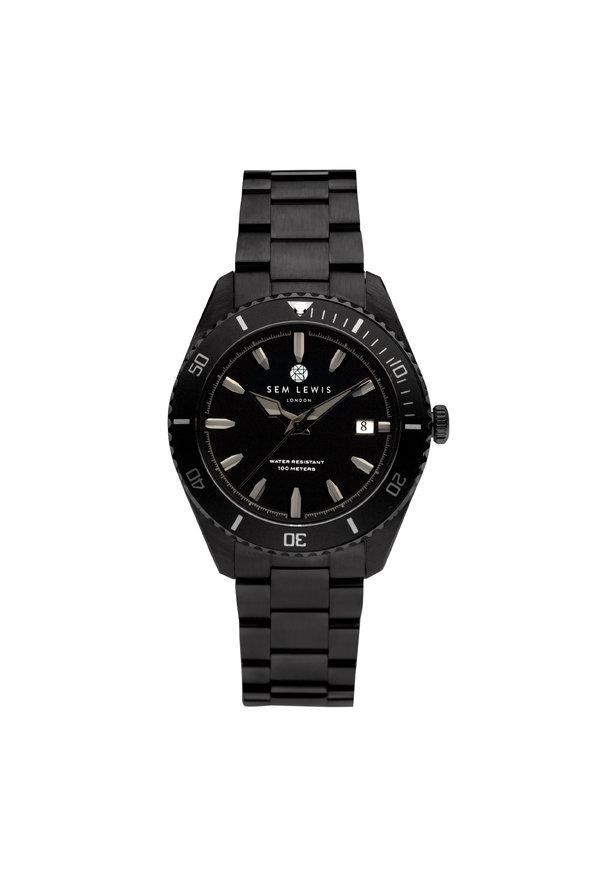 Sem Lewis Lundy Island Diver horloge zwart
