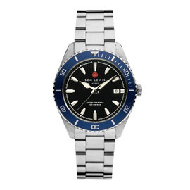 Sem Lewis Lundy Island Diver watch silver colored and black