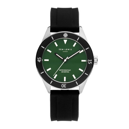 Sem Lewis Thames Diver watch black and green