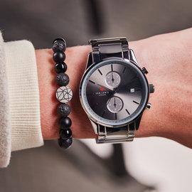 Sem Lewis Piccadilly South Kensington bracelet en perles noir (perles de 8 mm)