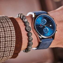 Sem Lewis Piccadilly South Kensington beaded bracelet grey