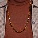 Sem Lewis Piccadilly South Kensington collana di perline marrone