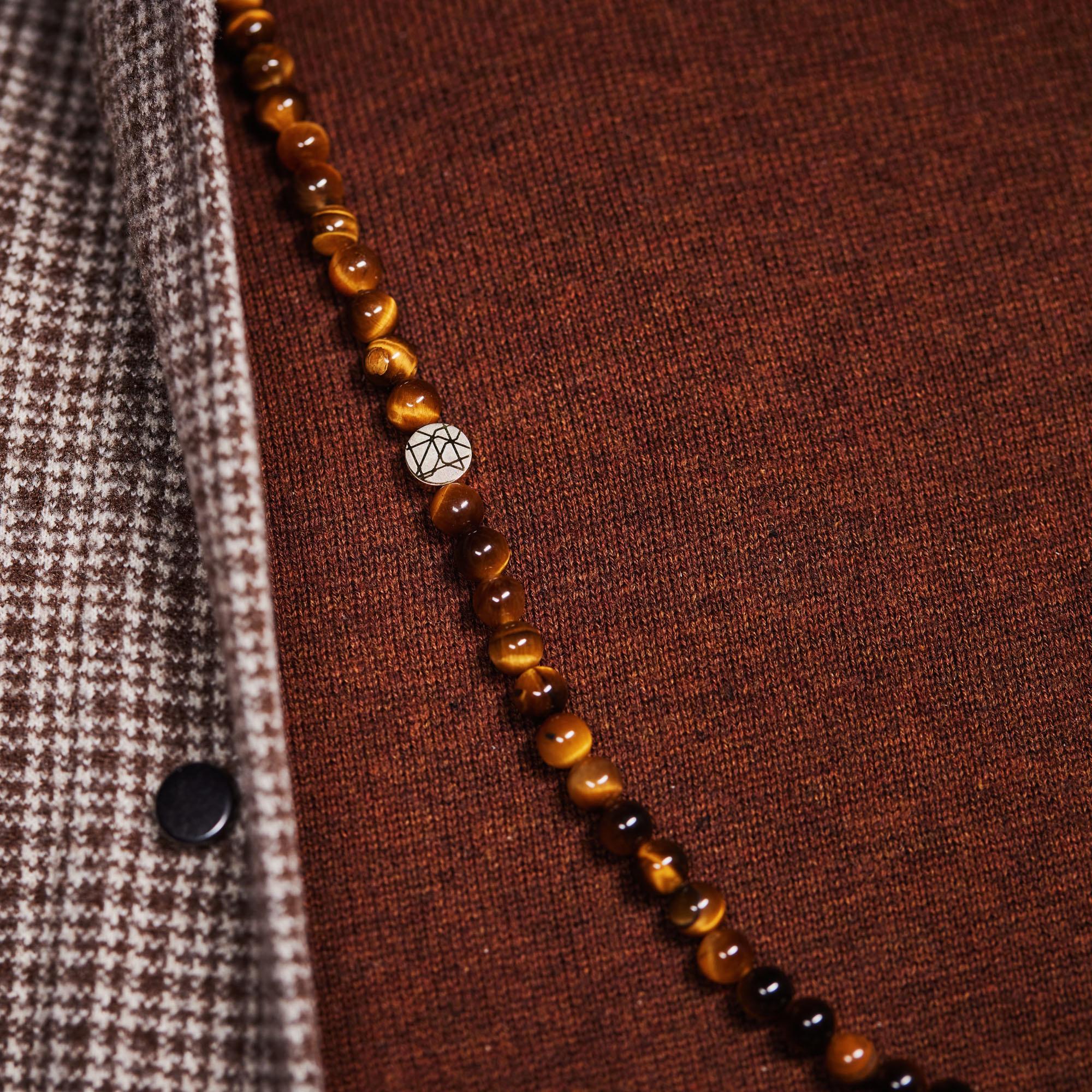 Sem Lewis Piccadilly South Kensington beaded halskæde brun