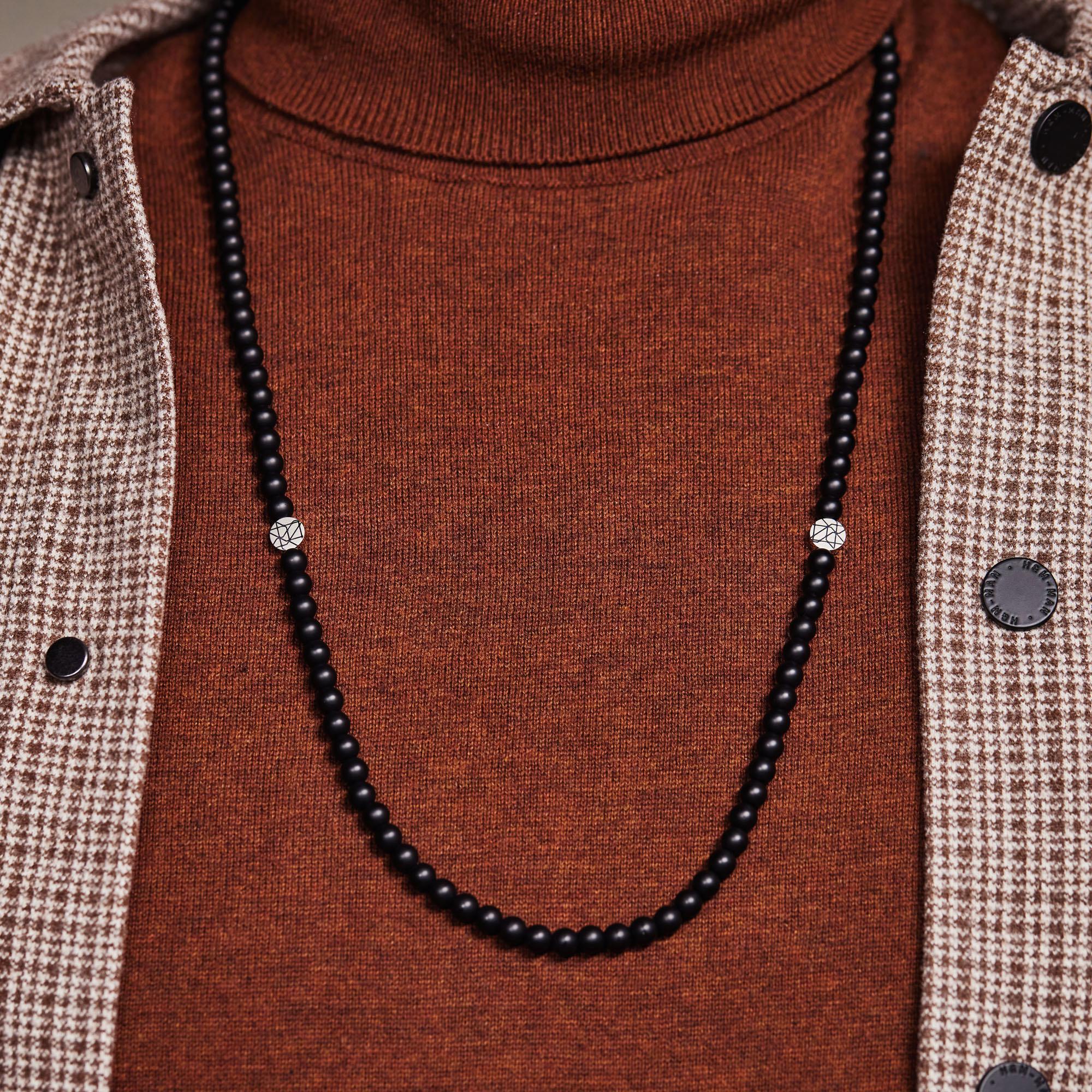 Sem Lewis Piccadilly South Kensington collana di perline nero