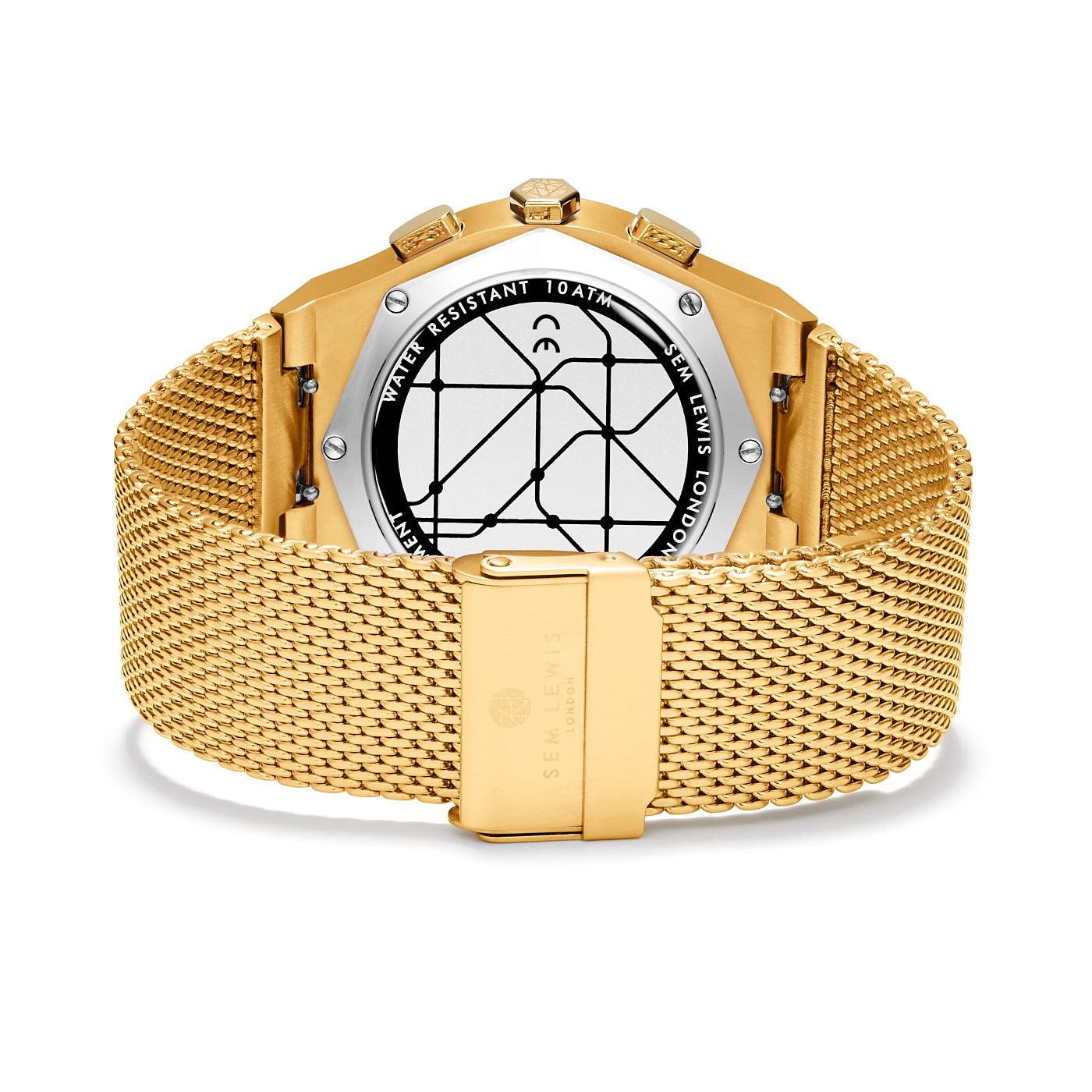Sem Lewis Moorgate montre chronographe couleur or