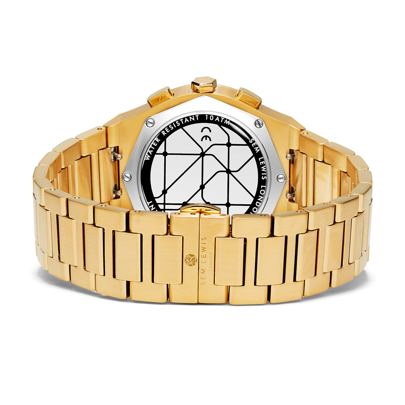 Sem Lewis Moorgate chronograaf horloge goudkleurig