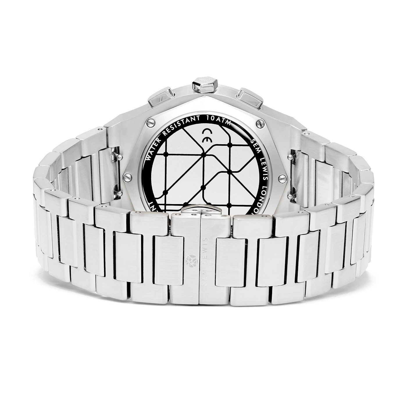 Sem Lewis Moorgate chronograaf horloge blauw/zilverkleurig
