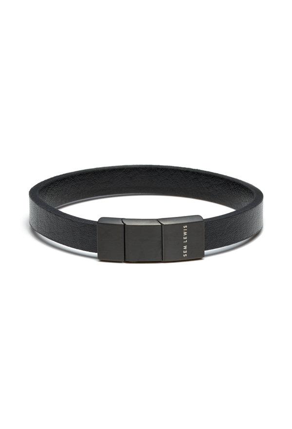 Sem Lewis Bakerloo Bakerstreet bracelet en cuir noir