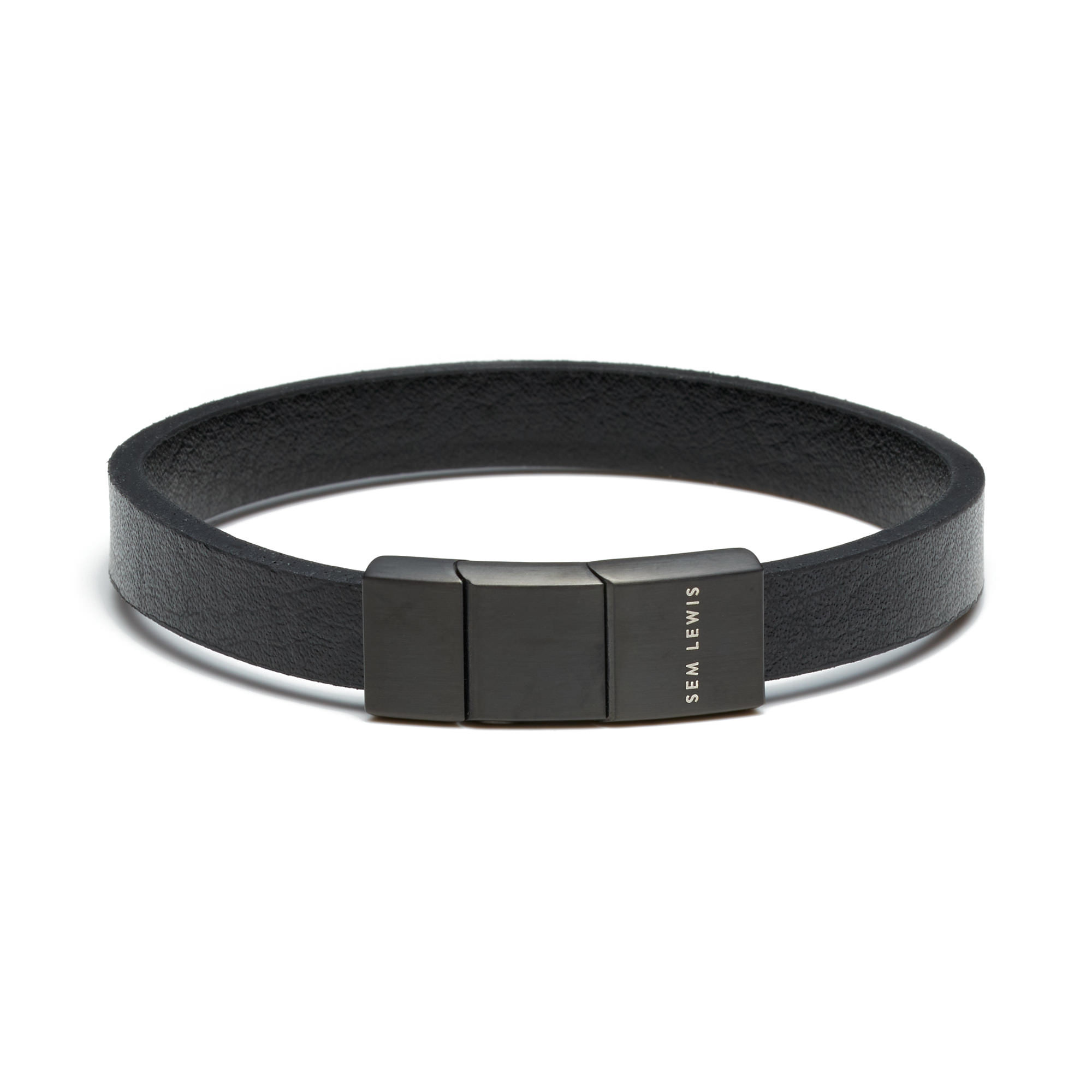 Sem Lewis Bakerloo Baker Street leather bracelet black