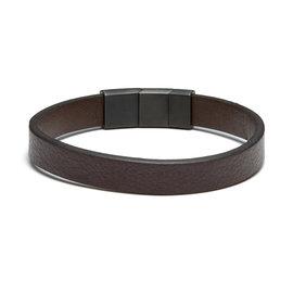 Sem Lewis Bakerloo Baker Street braccialetto di pelle marrone