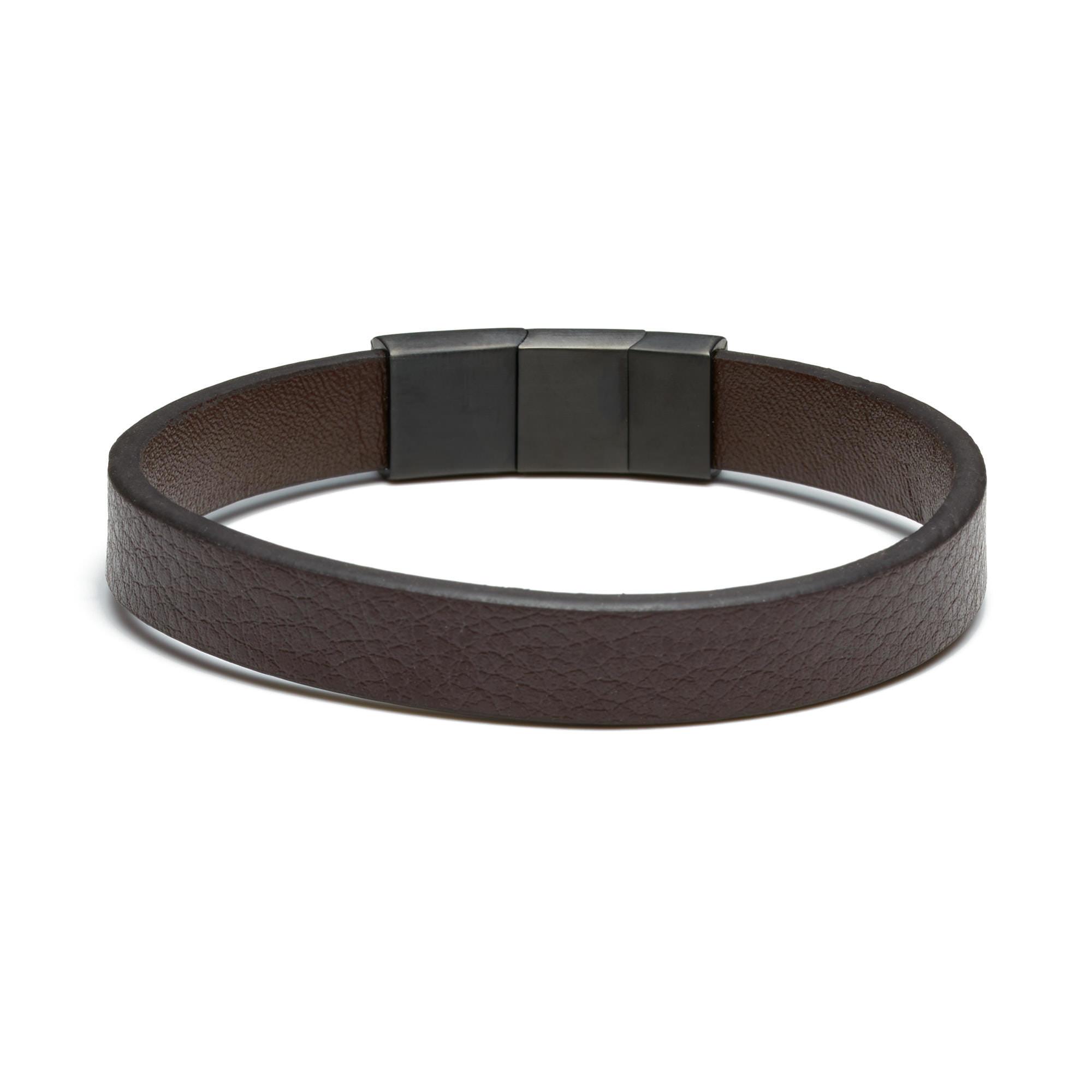 Sem Lewis Bakerloo Baker Street bracelet en cuir marron