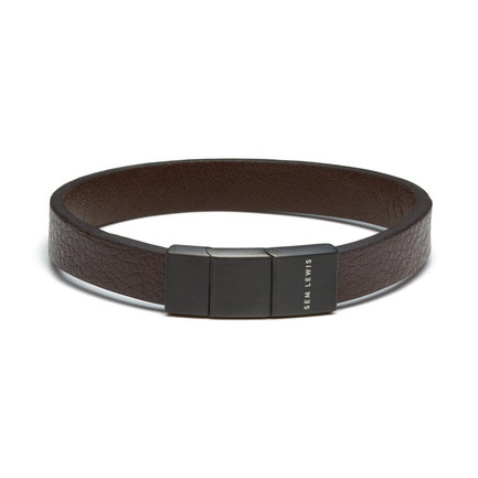Sem Lewis Bakerloo Baker Street leather bracelet brown