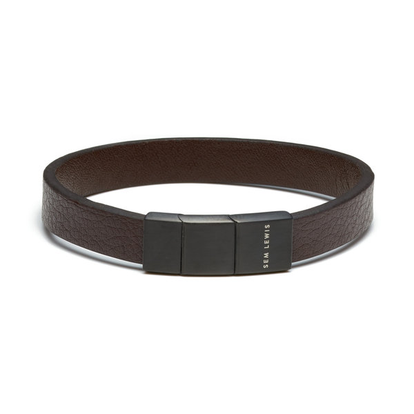 Sem Lewis Bakerloo Baker Street leather bracelet brown