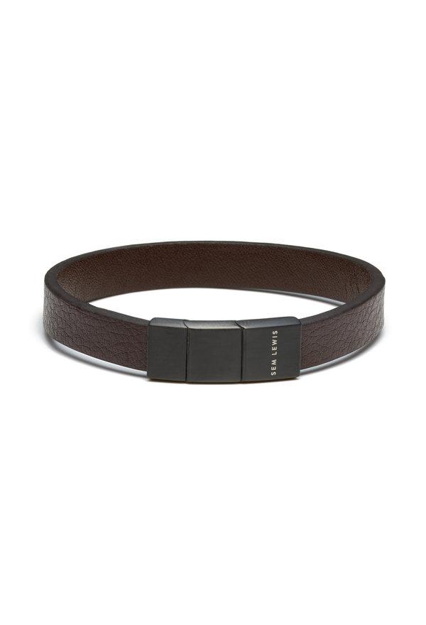 Sem Lewis Bakerloo Bakerstreet leather bracelet brown