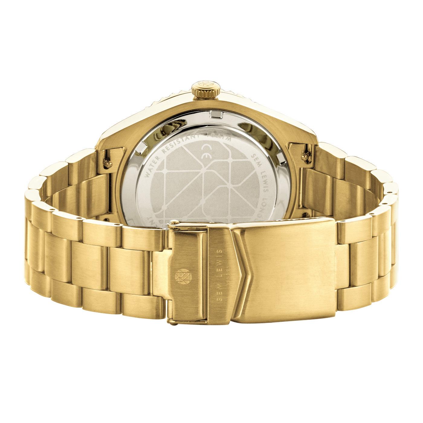 Sem Lewis Lundy Island Diver horloge Groen / Goudkleurig