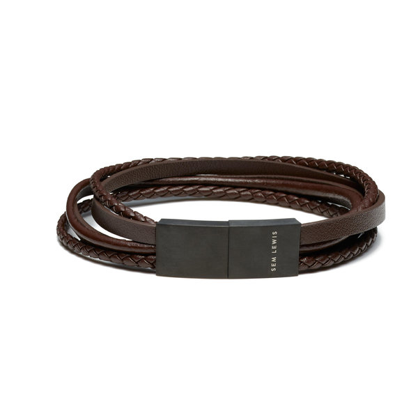 Sem Lewis Bakerloo Charing Cross leather bracelet brown