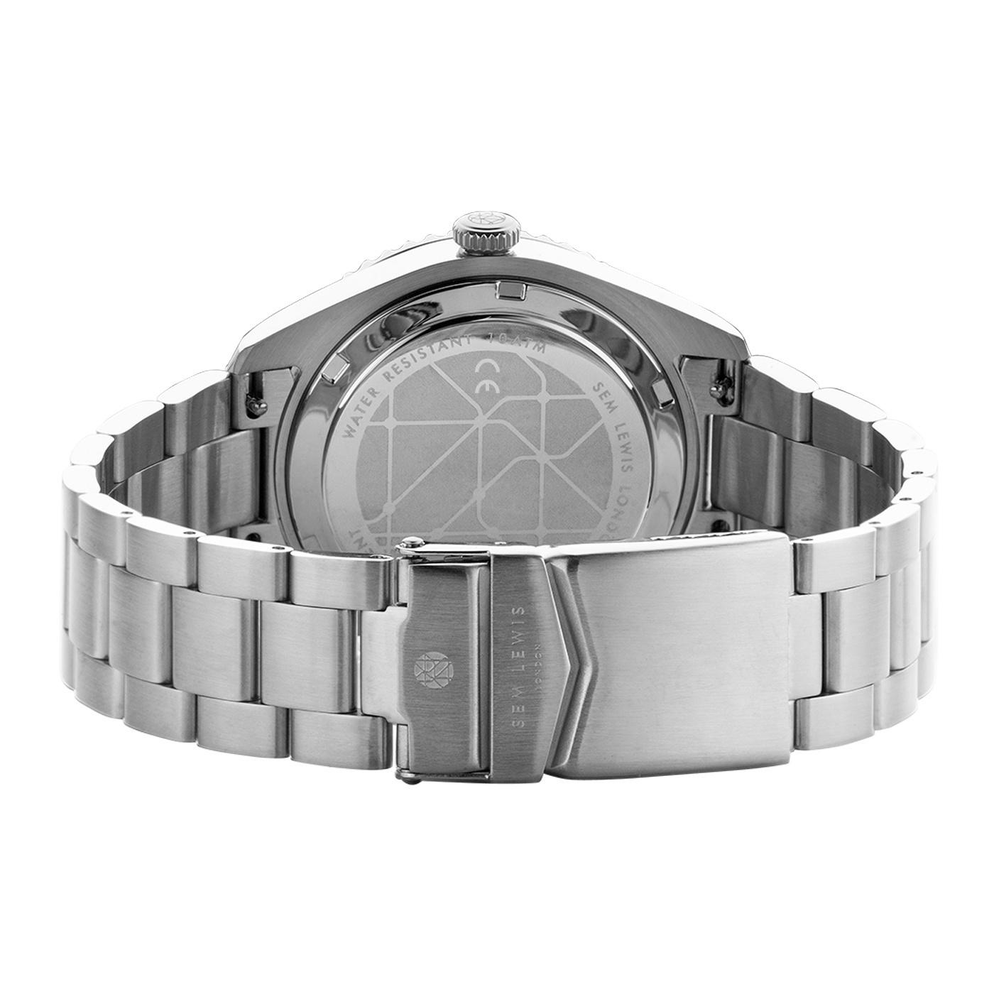 Sem Lewis Lundy Island Diver orologi color argento e verde