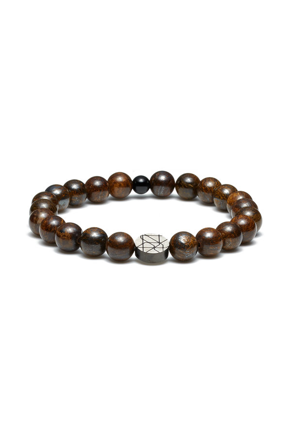 Sem Lewis Piccadilly South Kensington beaded armbånd brun