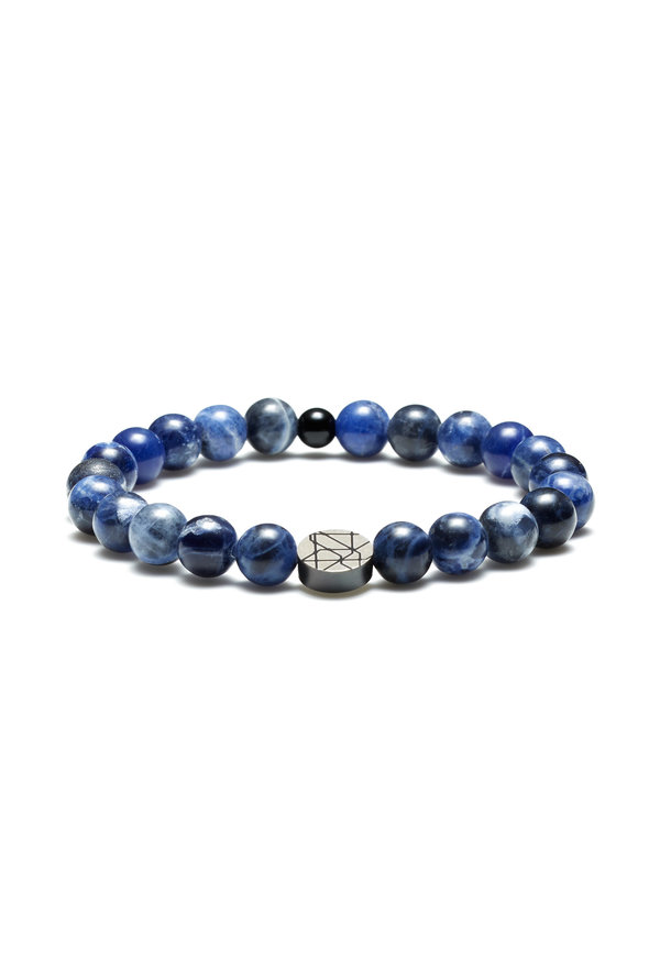 Sem Lewis Piccadilly South Kensington pärlstav armband blå