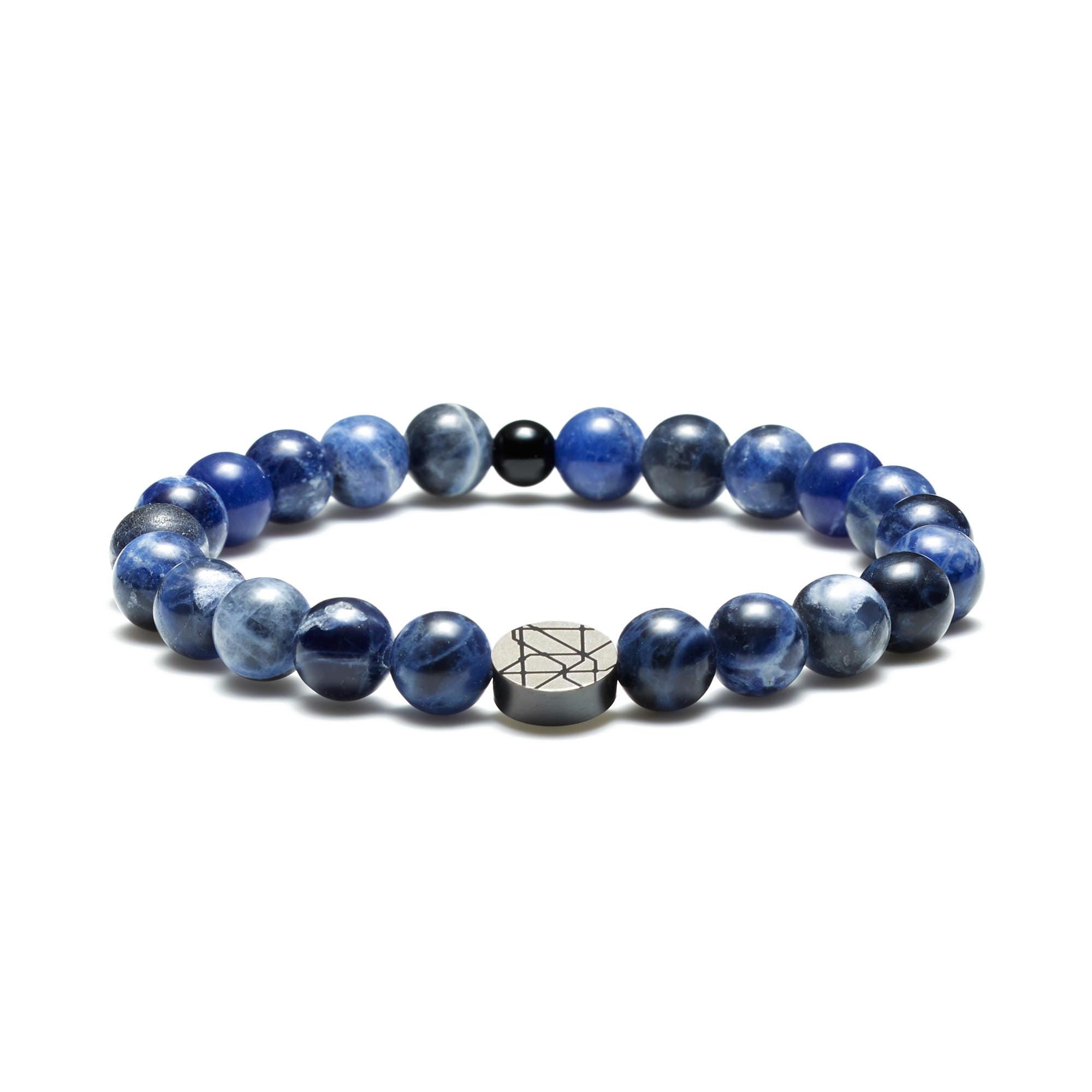 Sem Lewis Piccadilly South Kensington beaded bracelet blue
