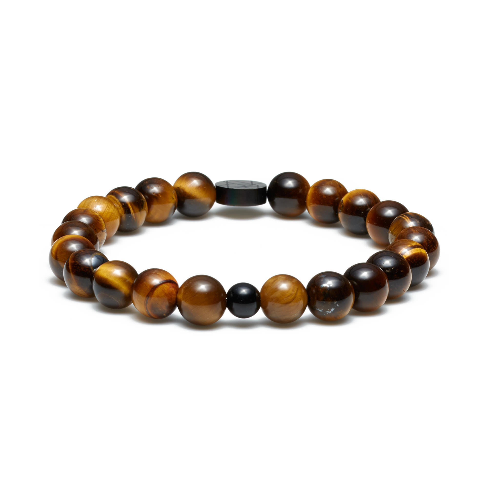 Sem Lewis Piccadilly South Kensington beaded bracelet black and brown