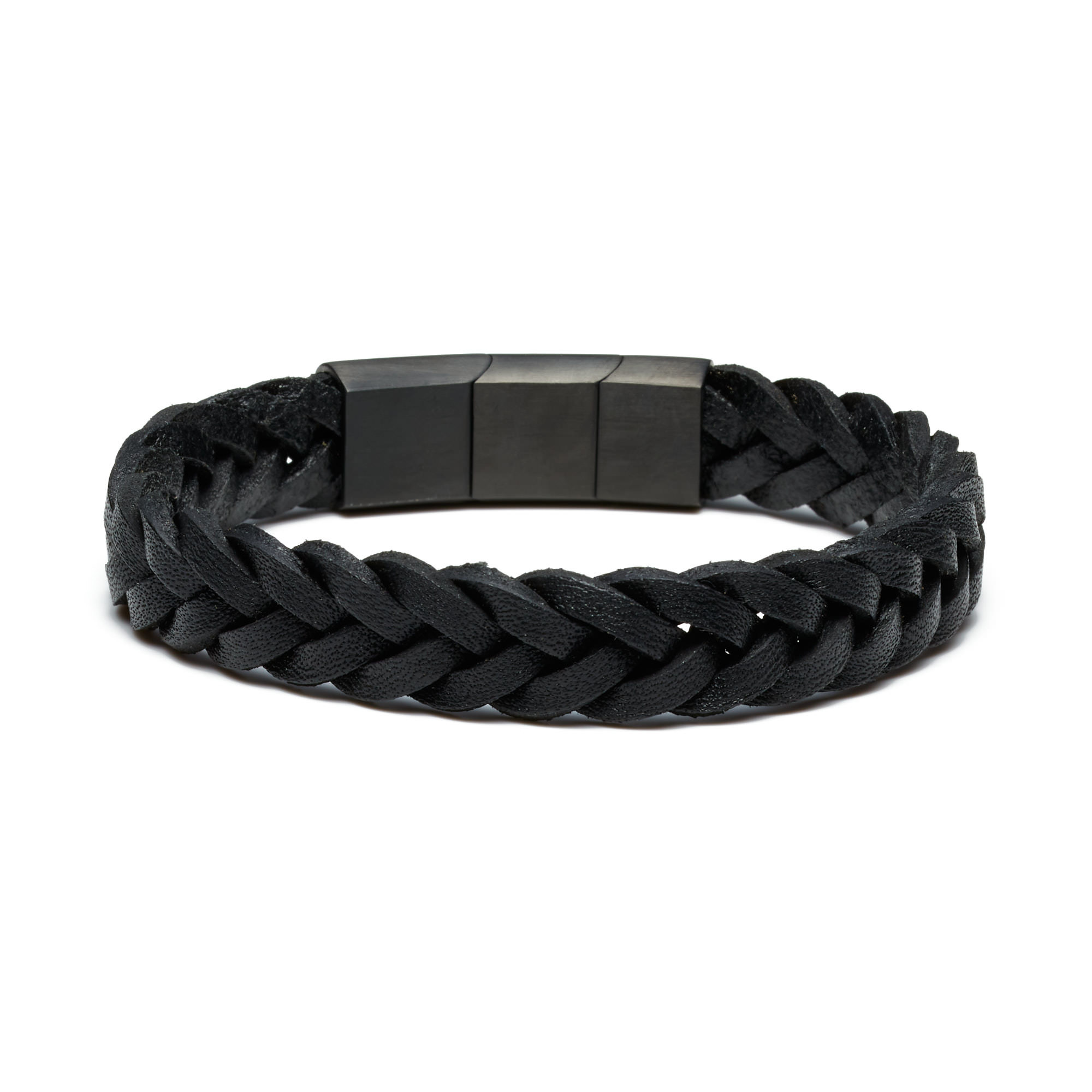 Sem Lewis Bakerloo Paddington leather bracelet black