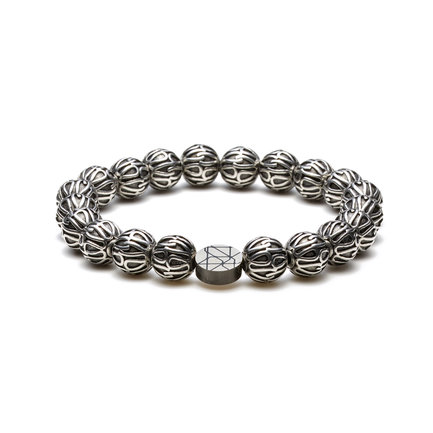 Sem Lewis Piccadilly South Kensington beaded bracelet silver colored