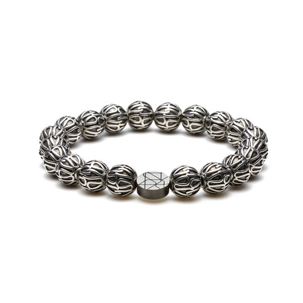 Sem Lewis Piccadilly South Kensington bracelet en perles couleur argent