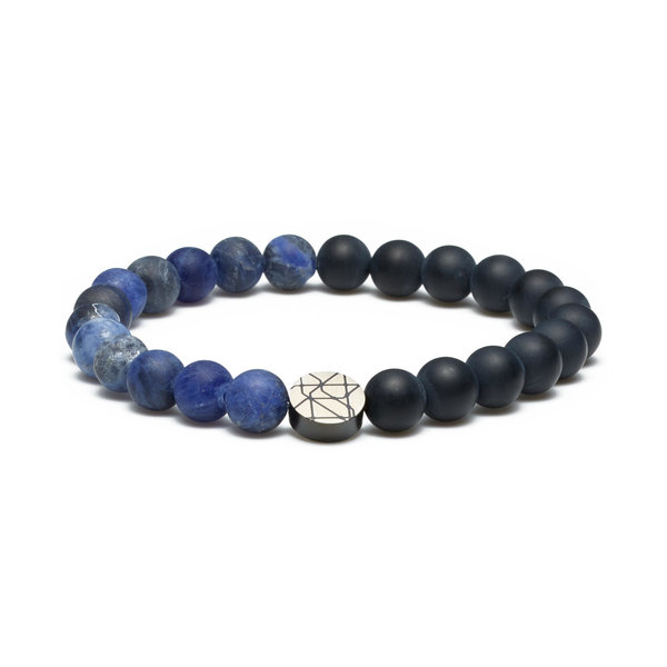 Sem Lewis Piccadilly South Kensington beaded bracelet black and blue