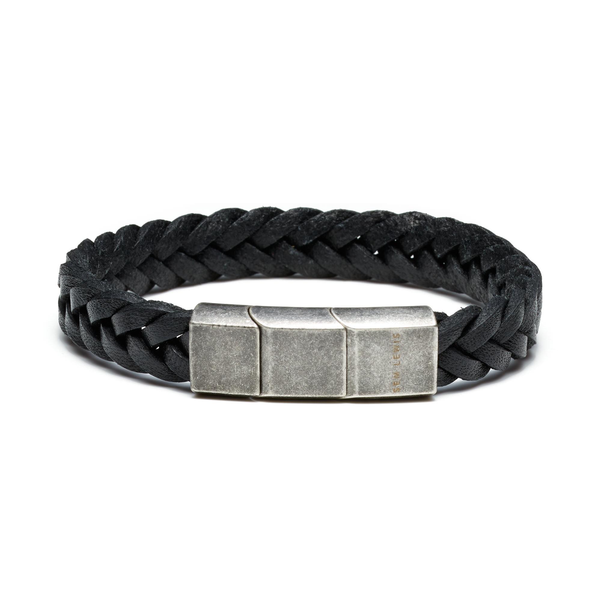 Sem Lewis Bakerloo Paddington bracelet en cuir noir