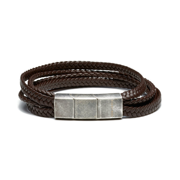 Sem Lewis Bakerloo Paddington leather bracelet brown