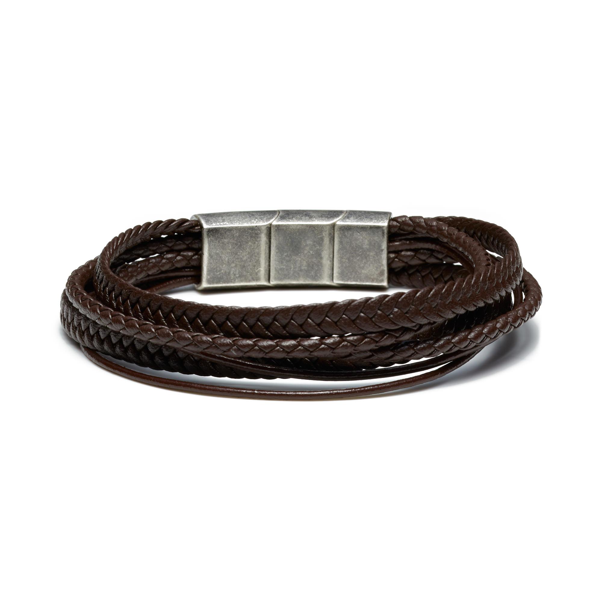 Sem Lewis Bakerloo Paddington bracelet en cuir marron
