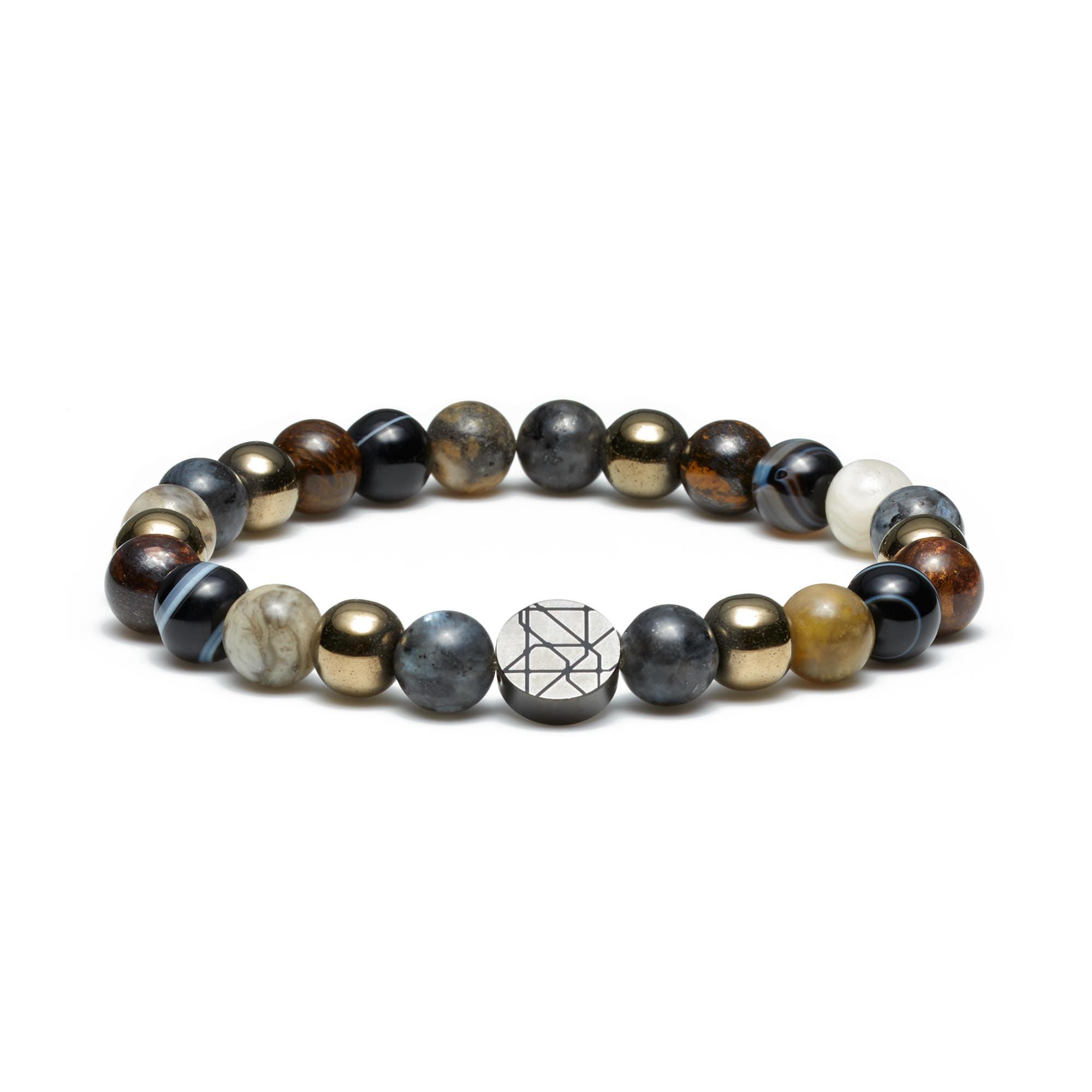 Sem Lewis Piccadilly South Kensington beaded bracelet multi-colored