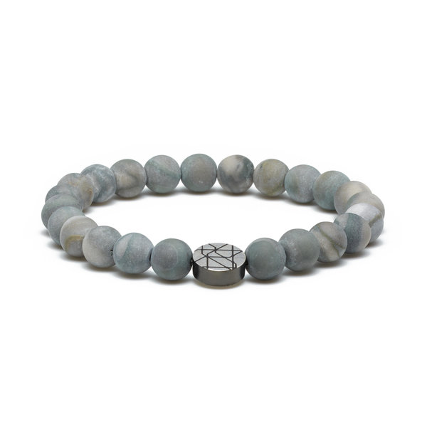 Sem Lewis Piccadilly South Kensington beaded bracelet grey