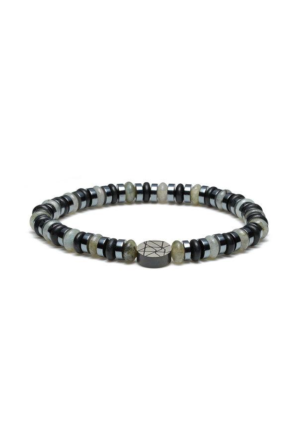 Sem Lewis Piccadilly South Kensington kralenarmband zilver / zwart