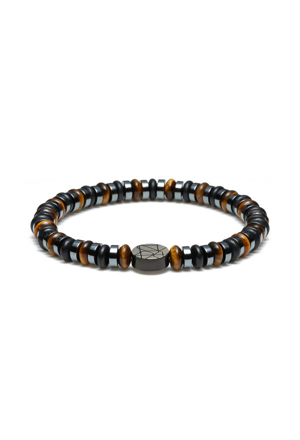 Sem Lewis Piccadilly South Kensington beaded armbånd sort og brun