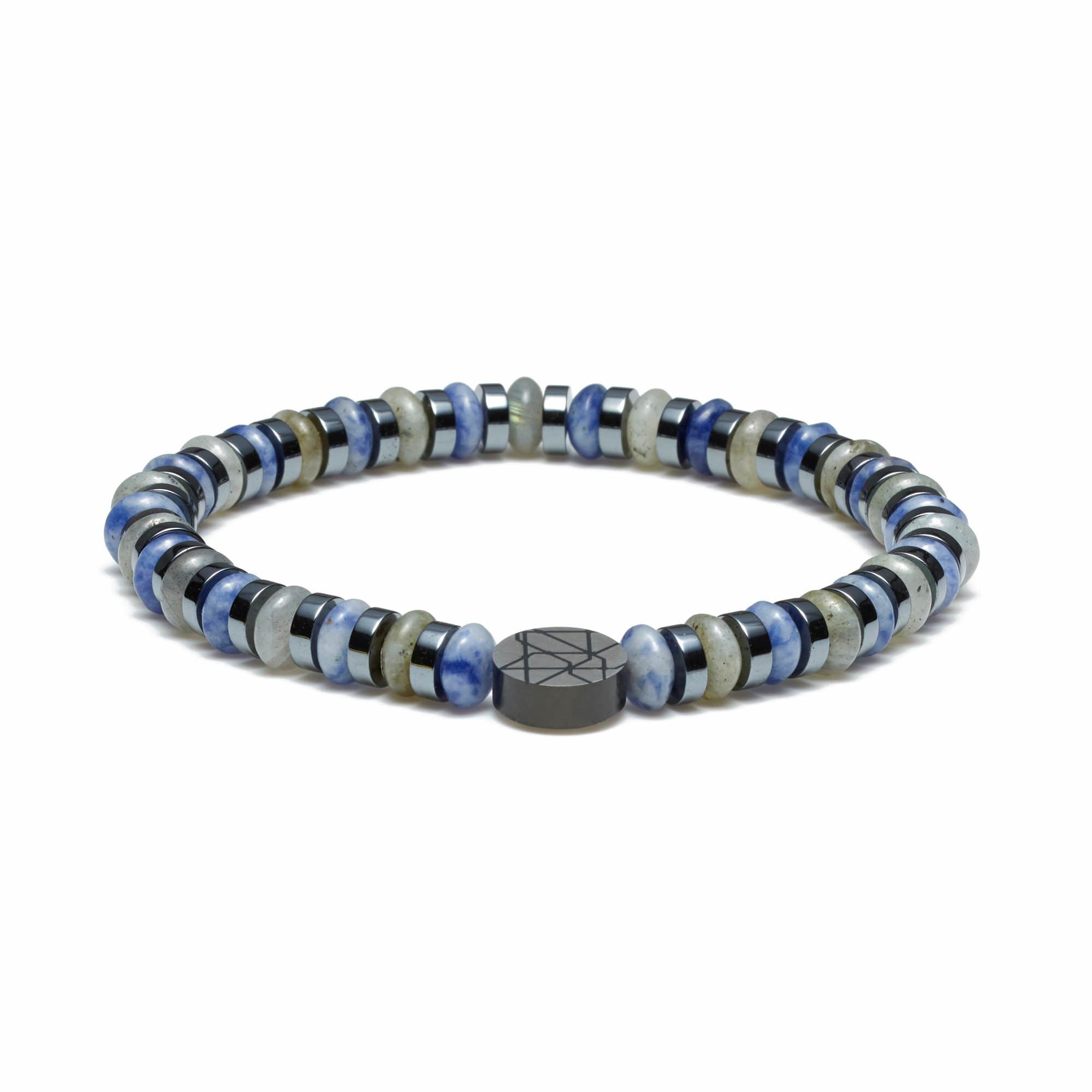 Sem Lewis Piccadilly South Kensington beaded armbånd blå