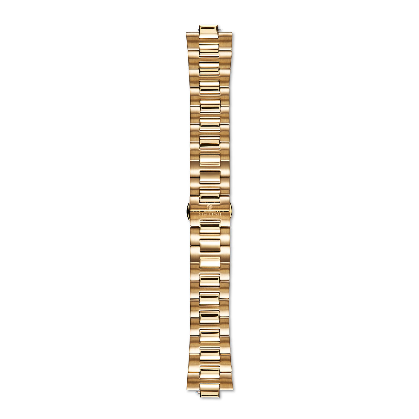 Sem Lewis Aldgate steel watch strap 24 mm gold colored