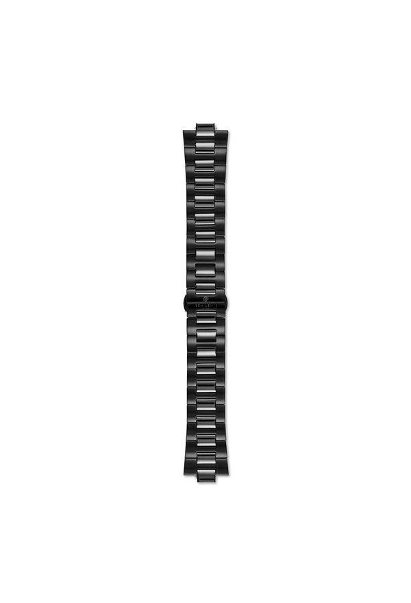 Sem Lewis Aldgate stalen horlogeband 24 mm zwart