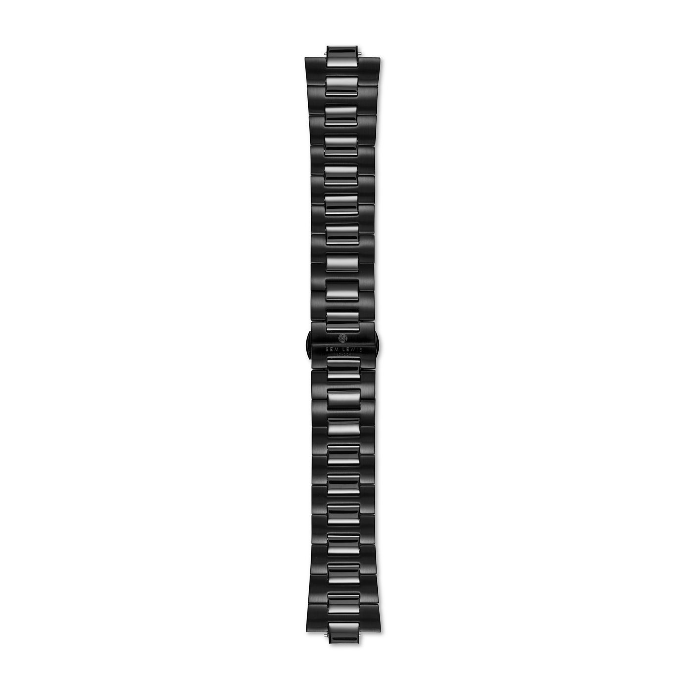Sem Lewis Aldgate steel watch strap 24 mm black