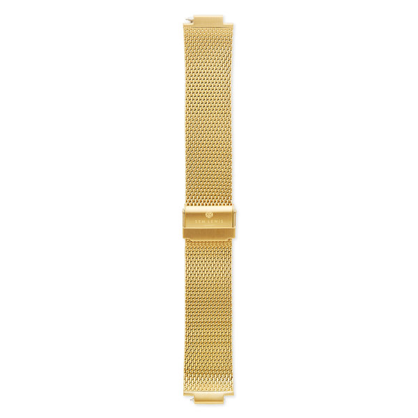 Sem Lewis Moorgate steel mesh watch strap 24 mm gold colored