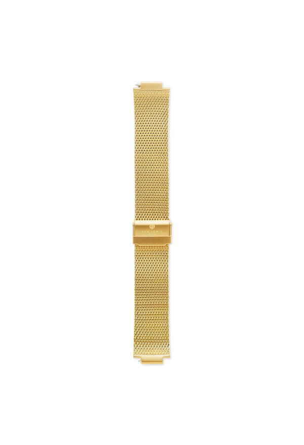 Sem Lewis Moorgate Mesh-Edelstahl Uhrenarmband 24 mm goldfarben