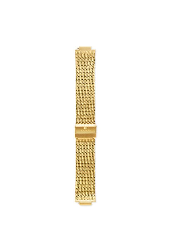 Sem Lewis Moorgate stalen mesh horlogeband 24 mm goudkleurig