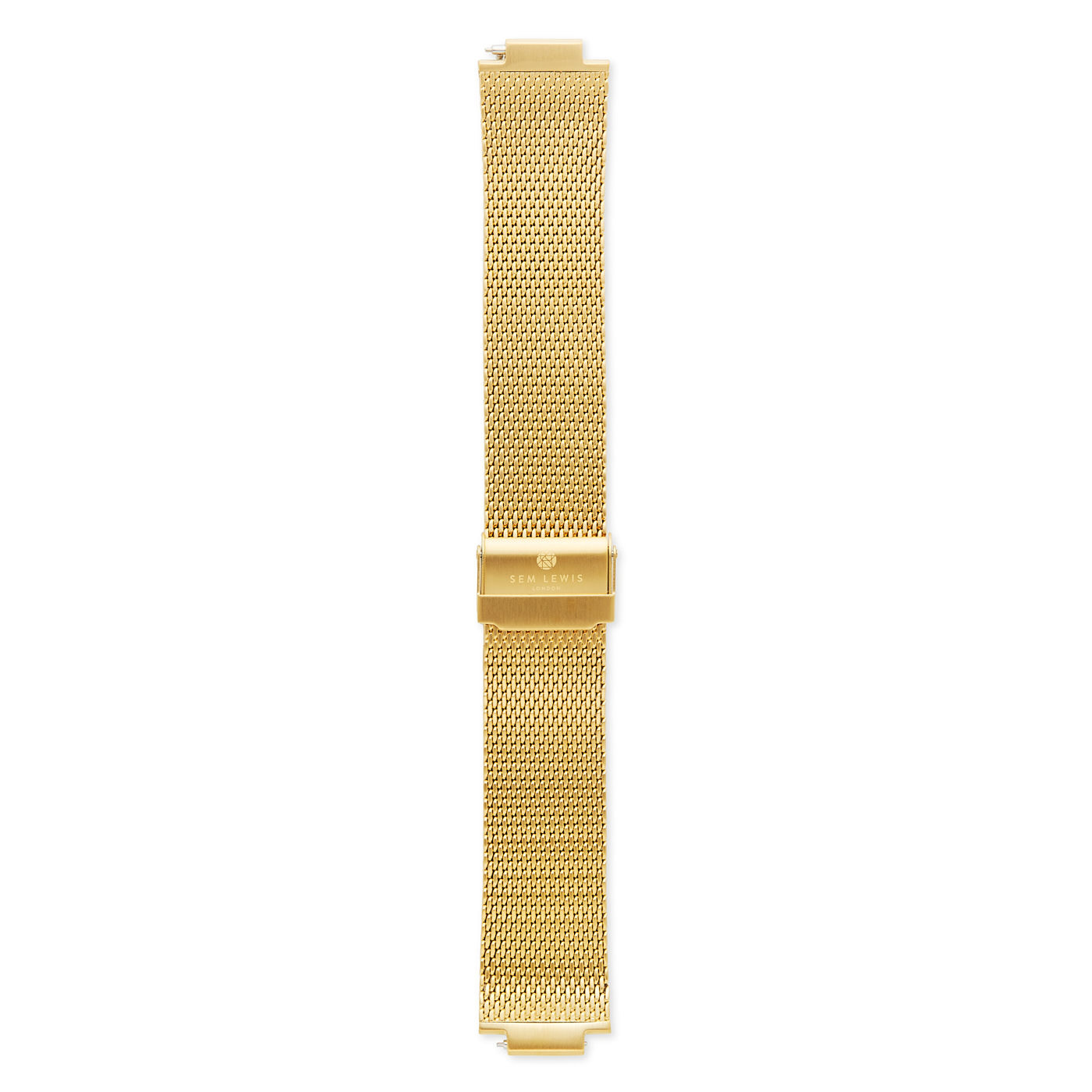 Sem Lewis Moorgate steel mesh watch strap 24 mm gold colored